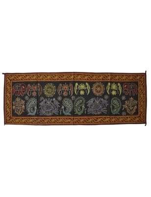 Lal Haveli Embroidered Work Design Cotton Table Runner Table Decorations 18 X 51 Inch
