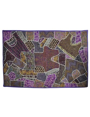 Embroidery wall Hanging Patchwork Tapestry Cotton Ethnic 39 X 59 Inches