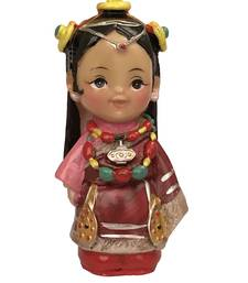 Buy KSHIJU's Feng Shui Tibetan Folk Figurine in Traditional attire with Showpiece Symbol of Welcome , Harmony and Prosperity sculpture online