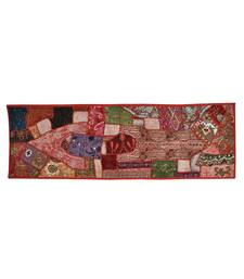 Lal Haveli Decorative Sequins Embroidery Work Design Cotton Handmade wall Hanging