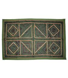 Traditional Embroidered Mirror Work Design Indian Designer Cotton wall Hanging