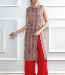 Buy Grey printed rayon stitched kurti kurtas-and-kurtis online