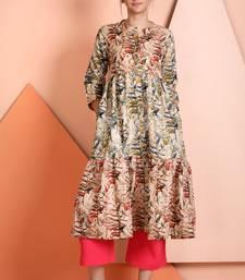 Buy Multicolor printed polyester stitched kurti kurtas-and-kurtis online