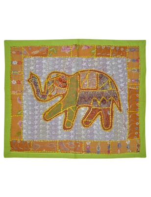 Lal Haveli Designer patchwork Mirror Work Embroidery Cotton Wall Hanging 25 By 30 Inches