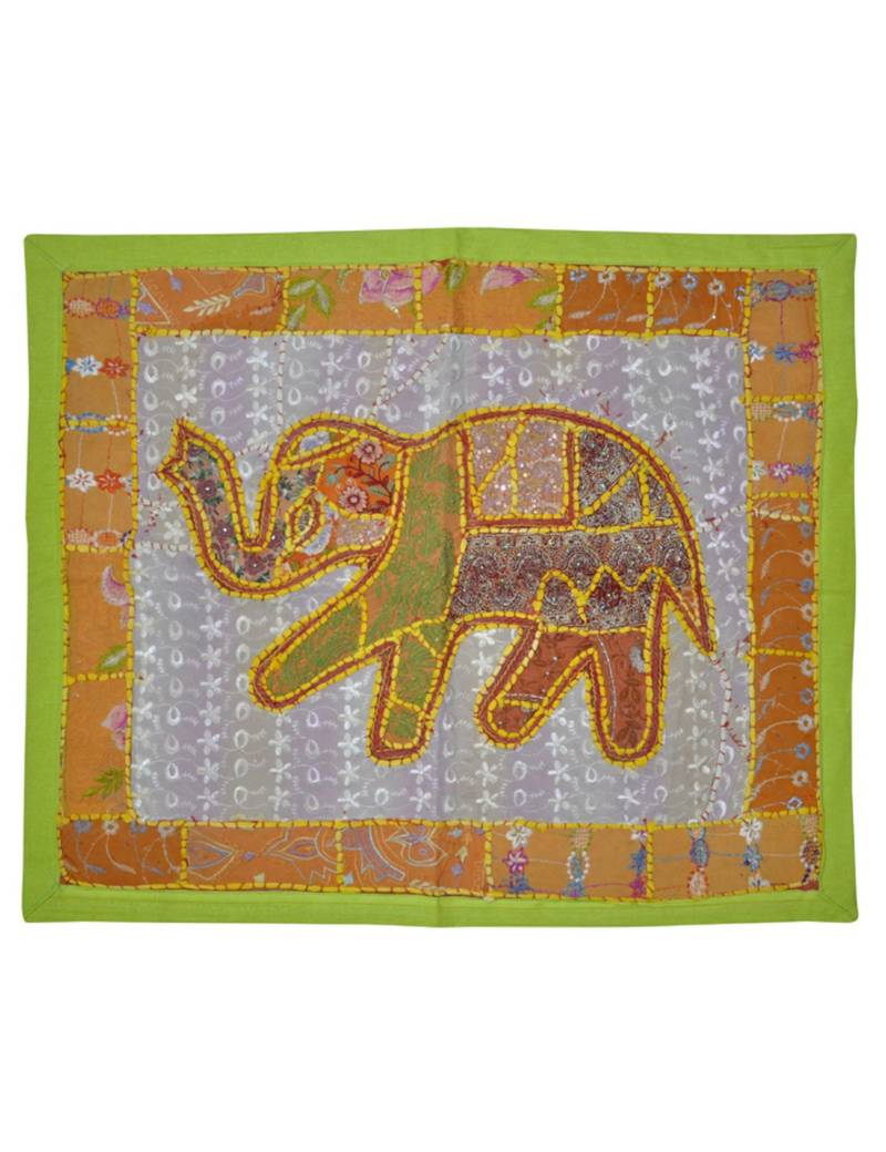Lal Haveli Designer Patchwork Mirror Work Embroidery Cotton Wall Hanging 25 By 30 Inches Lal Haveli 2756791