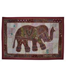 Indian Home Decorative Embroidered Elephant Work Design Cotton wall Hanging