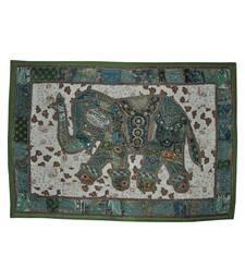 Vintage wall Decorative Handmade Embroiderd Elephant Work Designer wall Hanging