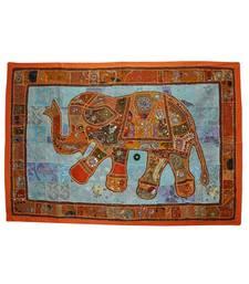 Home Decorative Designer Embroidered Elephant Art Work Tapestry