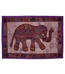 Ethnic Designer Traditional Embroidered Work Elephant Cotton Tapestry