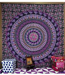 Home Decorative Handmade Mandala Cotton wall Hanging 85 X 90 Inches