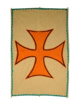 Lal Haveli Handmade Cotton Fabric Cross wall Hanging 53 X 36 Inch