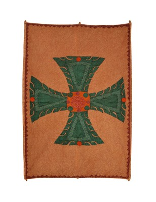 Lal Haveli Cross patchwork Design Cotton Wall Hanging Tapestry 53 X 36 Inch