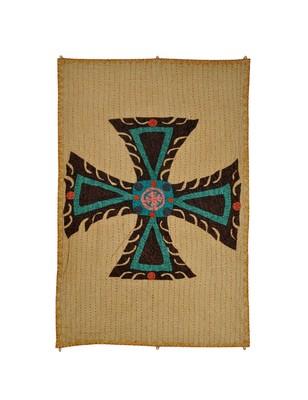 Lal Haveli Decorative Cross wall Hanging Housewarming Gifts 53 X 34 Inch