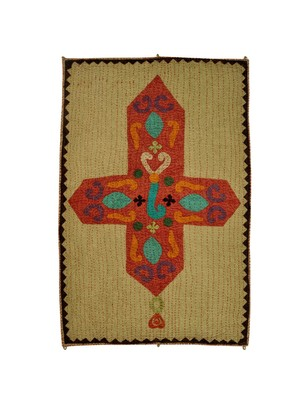 Lal Haveli Kantha patchwork Design Cotton Wall Hanging Decor 53 X 34 Inch