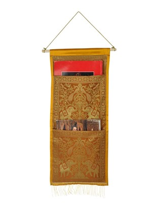 Lal Haveli wall Hanging Organizer New House Decorative 2 pockets 24 X 10 Inch