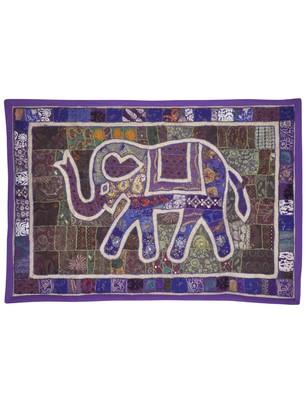 Traditional Home Decorative Embroidery Design Elephant Work Cotton wall Hanging