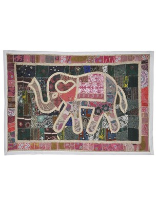Home Decorative Embroidery Design patchwork Traditional Elephant Wall Hanging