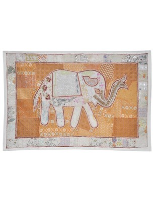 Rajasthani Embroidery Design Wall Hanging Traditional patchwork Cotton Tapestry
