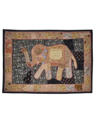 Traditional Handcrafted patchwork Design Elephant Work Wall Hanging