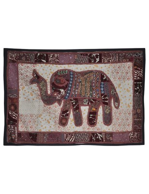 Ethnic Handmade Embroidery Design patchwork Cotton Wall Art Tapestry