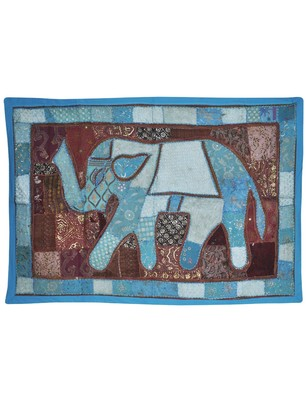 Elegant Cotton patchwork Embroidery Design Elephant Work Cotton Wall Hanging