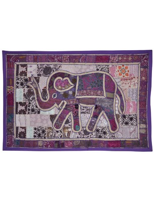 Indian Handmade Elephan Work wall Hanging For Room Decoration 101 X 152 Cm