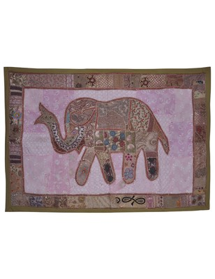 Home Decorative Elephant Art Work Cotton wall Hanging Tapestry 101 X 152 Cm
