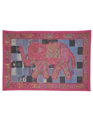 Rajasthani Hand D  cor Embroidery Design Vintage wall Hanging Tapestry