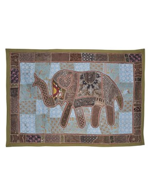 Home Decorative Traditional Design Elephant Work Tapestry wall Hanging