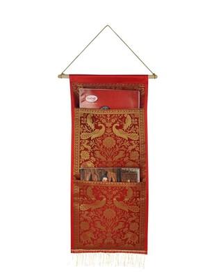 Lal Haveli 2 pockets wall Hanging Storage Organizer 24 X 10 Inch