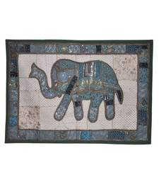 Vintage Handmade Elephant Work patchwork Design Cotton Wall Decor Tapestry