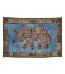 Traditional Designer Embroidered patchwork Cotton Wall Hanging Tapestry