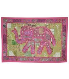 Traditional Zari Embroidery Design patchwork Tapestry Decorative Elephant Wall Hanging