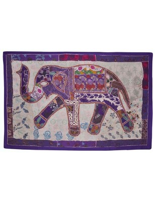Home Decorative Indian Elephant Work Embroidered wall Hanging