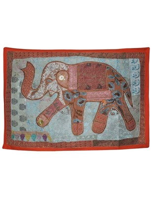 Decoraitve Elephant Work wall Hanging Traditional Embroidery Design Tapestry