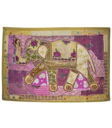 Traditional Embroidery patchwork Design Elephant Work Cotton Wall Hanging