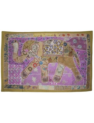 Home Decor Tapestry Traditional Embroidery Design Elephant wall Hanging