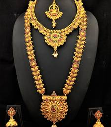 Charming Jewelry Indian Bollywood Temple Jewlery 5pc Set