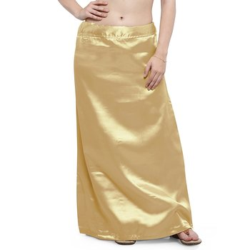 Muhenera gold satin free size petticoat