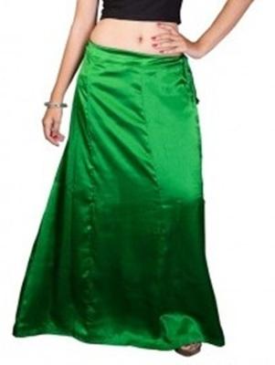Muhenera green satin free size petticoat