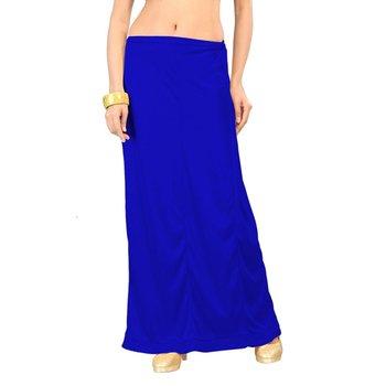 Muhenera royal blue satin free size petticoat