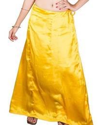 Muhenera yellow satin free size petticoat