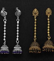 Buy Black danglers drops jewellery-combo online