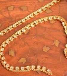 Designer Diamond Stone Anklet Pair Set