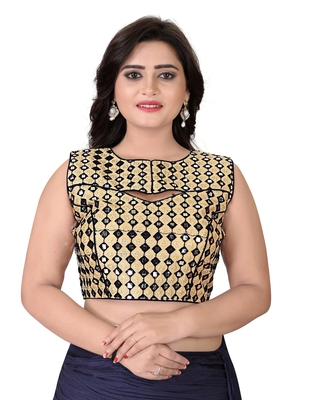 Black Embriodered Bangalori Blouse