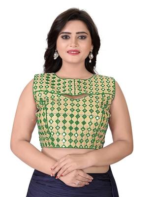 Green Embriodered Bangalori Blouse