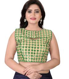 Green Embriodered Bangalori Blouse