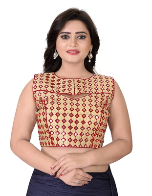 Red Embriodered Bangalori Blouse