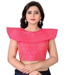 Pink Solid Malbari Blouse