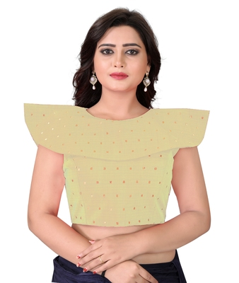 Beige Solid Malbari Blouse